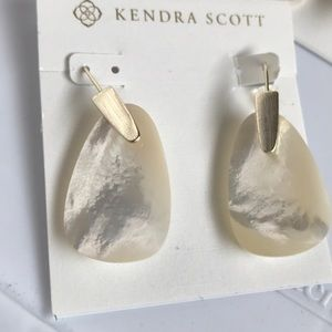 New Kendra Scott white earrings